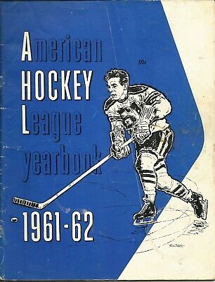 AHL American Hockey League Annual Yearbook 1961-62 NHL Future Stars