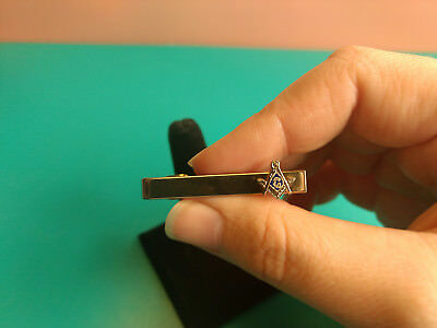 Men's Collectible Masonic Freemason Freemasonry Tie Bar Clip Jewelry