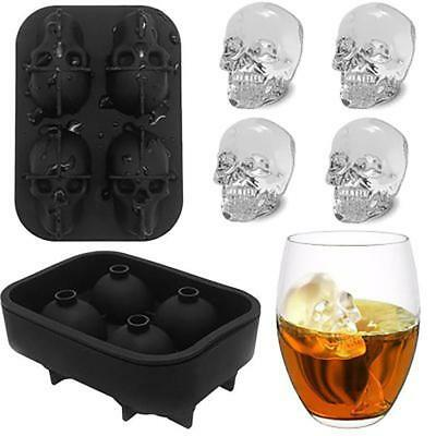 Eiswürfelform 3D Cocktails Silikon Skull Whiskey Eisform Tablett Party Cocktail`