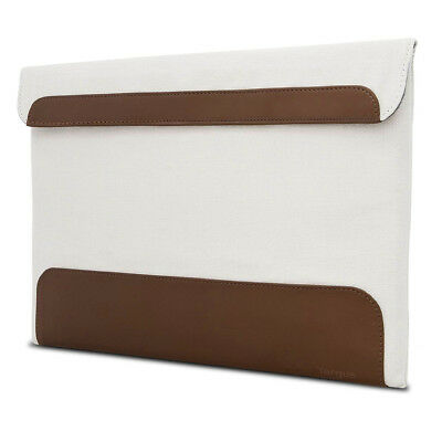 Targus Ultralife Thin Canvas Sleeve for 13.3 Ultrabooks - Cream/Tan