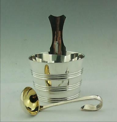 Antique Scottish Solid Silver Cream Pail, Luggie, With Ladle 287 Gms Glasgow
