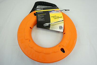 "Klein Tools 56003 Depth Finder 1/8"" x 125' Steel Fish Tape New Laser Markings"