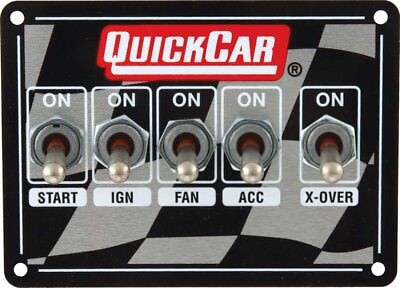 QUICKCAR RACING PRODUCTS 4-1/8 x 3 in Dash Mount Switch Panel P/N 50-1713
