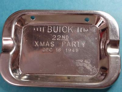 "Buick 22nd Christmas Party Dec. 18, 1948 Chrom Ashtray 5"" Long Tray 7"
