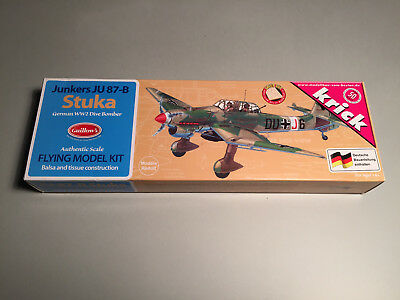 Guillow's Junkers JU 87 B Stuka Holzbausatz Lasercut WWII Guillow KIT 508