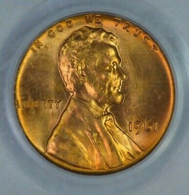 1961 PCGS Certified MS66RD Red Lincoln Cent Penny 1C Coin Uncirculated MC0104