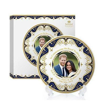"""Royal Wedding 2018 6"""" Plate and Stand Prince Harry & Meghan Markle Commemorative"""