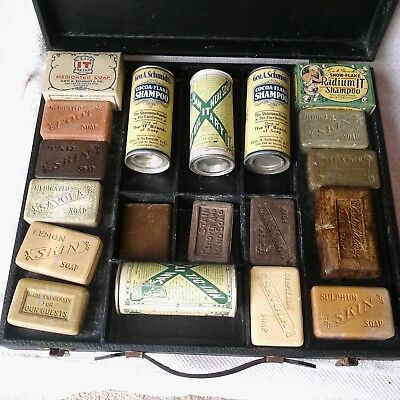 Vintage - 'Soap Salesman Sample' Sales Kit With 19 Soap Samples With Case