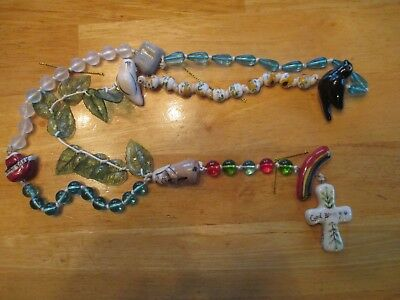Blue Sky Clayworks Noah's Ark Rosary 21 inch Heather Goldminc