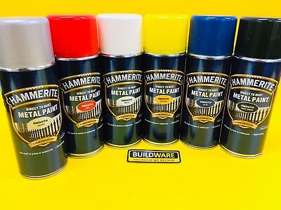 HAMMERITE SPRAY PAINT  DIRECT TO RUST METAL PAINT, Aerosol Smooth Finish 400 ml