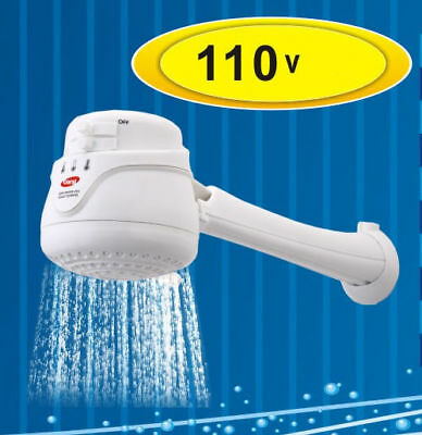 Electric Shower Head Tankless Water Heater , Instant Hot Water 110V - FREE ARM !