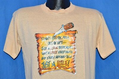 vintage 80s I DON'T ASK FOR MUCH JUST A LITTLE IRON ON SOFT t-shirt MEDIUM M