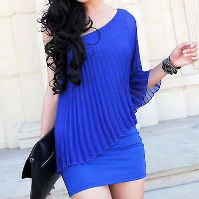 Womens Ladies One Shoulder Bodycon Summer Casual Evening Party Clubbing Dress LG