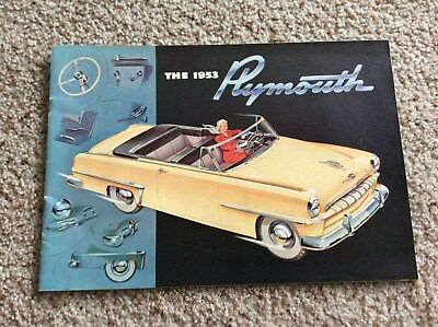 1953 plymouth  original dealership showroom deluxe color sales catalogue