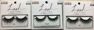 KISS LASH COUTURE FAUX MINK (3PK) - 2 Pack Gala 1 Pack Midnight