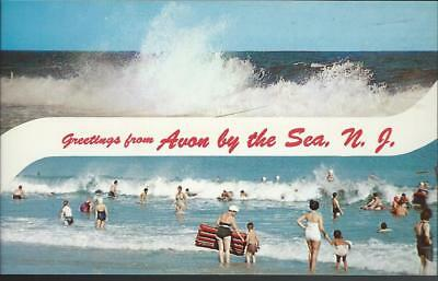 Avon by the sea new jersey sylvan hotel street view antique postcard c1950 greetings from avon by the sea new jersey postcard sciox Images