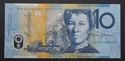 1994 Ten $10 Dollar Note Blue Dobell Uncirculated Fraser/Evans - BF 94899522