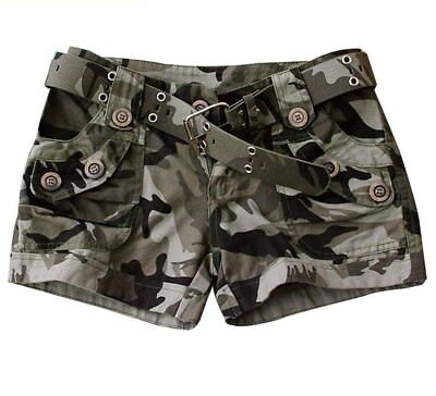Summer Camouflage Shorts For Women Military Style Mid Waist Cotton Soft Clothing