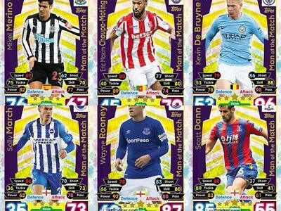 2017/18 English Premier League Match Attax Extra Man of the Match CARDS YOU PICK
