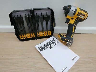 Dewalt Xr 18V Dcf887 Brushless Impact Driver Bare Unit + Dt7943 8Pc Flat Bit Set