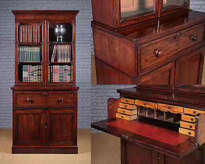 Antique Mahogany Secretaire Bookcase c.1820.