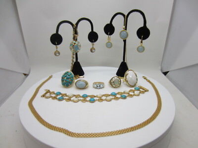 STERLING SILVER JEWELRY 925 GOLD PLATED JEWELRY LOT STATEMENT PIECES!!!Lot 1