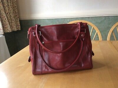Texier Shoulder Bag 23004 Source Goreous Red Real Leather 25 00 Picclick Uk