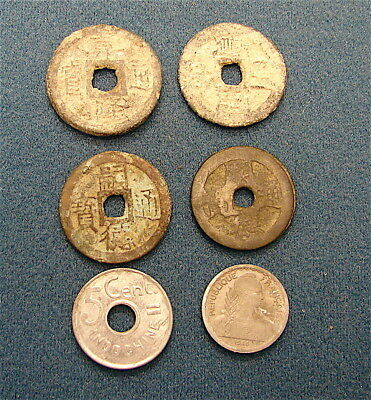 Vietnam & French Indo China----Lot of 6 Old Coins