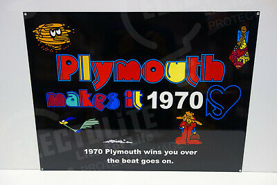 """Plymouth Makes It Enamel Sign. 18"""" By 24"""" Rectangular. Very Heavy, High Quality*"""