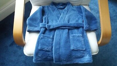 Baby Boys Infant Toddlers Blue Zoo Debenhams Dressing Gown 18-24 Months 1.5-2 Yr