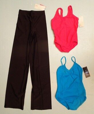 NWT Bal Togs 3 Piece Lot 2 Ballet Leotards + Dance Pants Child LG 12 - 14  C331