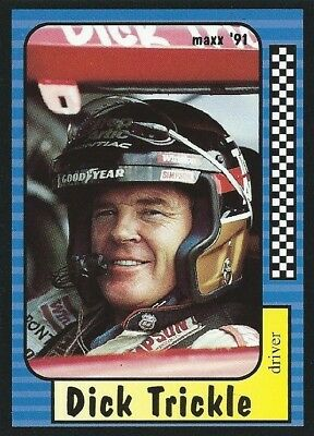 Dick Trickle Autographed Signed 1991 Maxx Racing Nascar Photo Trading Card #66