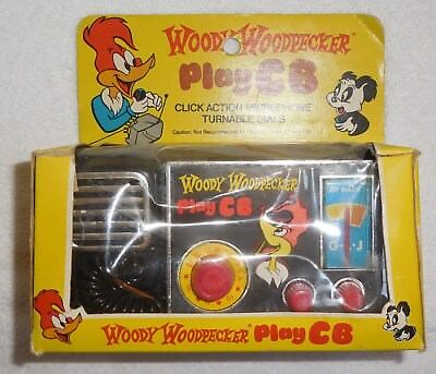 Vintage 1977 WOODY WOODPECKER PLAY CB No. 1501 GLJ TOY CO./HONG KONG w/BOX RARE
