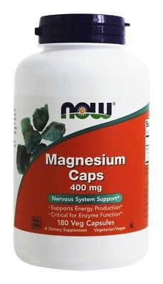 NOW Foods - Magnesium 400 mg. - 180 Capsules