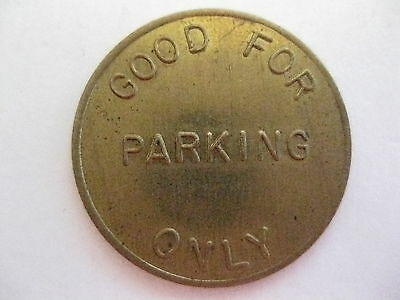 Vintage Brass Parking Token Stanton Cal. Automatic Parking Devices Inc. FS!