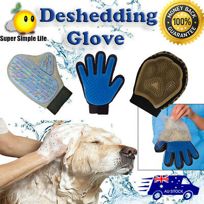 All Deshedding Magic Brush Glove True Touch Pet Dog Cat Massage Grooming Wash