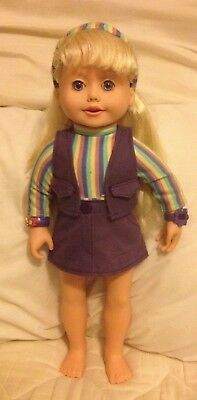 🔴 Reduced by $5 WORKS Vintage Playmates 2001 Amazing Ally Talking Doll 18""