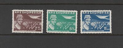ARCHEOLOGY - Albania  -1959 set of 3 (SC 538-40) - MNH- Y529