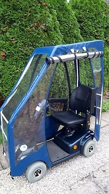 Invacare Mobility Scooter With Solid Tyres Deluxe Canopy Onyx Blue Rrp £1700 & NEW DELUXE Sheerlines Mobility Scooter Canopy - Stay Warm This ...