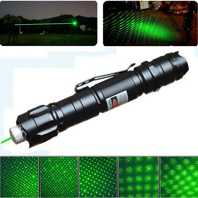 10 Miles Military 1mw Starry Green Laser Pointer Pen Light 532nm Visible Beam