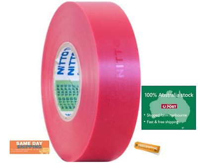 2/1x Tape Pink Nitto Electrical Insulation PVC 18mm x 18M High Quality Electric