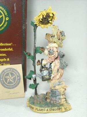 """New 1998 Boyds Folkstone #2881 """"liddy Pearl..how Does Your Garden Grow"""" 8"""" T"""