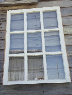 VINTAGE SASH ANTIQUE WOOD WINDOW PICTURE FRAME PINTEREST 37x28 UNIQUE PANES