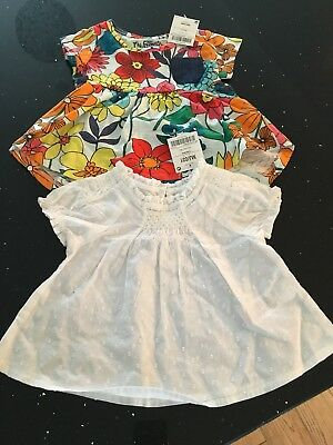 Bnwt Next Pretty Baby Girls Summer Tops 3-6 Holiday sun tunic blouse
