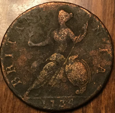 1734 United Kingdom Halfpenny