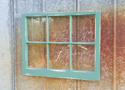 Architectural Salvage ANTIQUE TEAL GREEN DISTRESSED RUSTIC CHIPPY WINDOW SASH 36