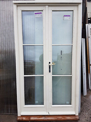 New Exterior External Wooden Double Glazed French Patio Doors