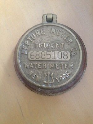 Neptune Co Trident Water Meter Cap Cover New York ON WOOD BASE