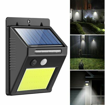 48 LED Solar Powered IP65 Motion Sensor Wall Security Light Lamp Garden Outdoor