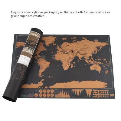 Travel Tracker Scratch Off World Map Poster with Country Scratch Map 42*29cm Hot